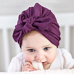 baratos Acessórios para Crianças-Para Meninas Para Meninos Capéus e Bonés Algodão, Elásticos de Cabelo - Branco Vermelho Rosa Cinzento Roxo