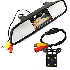 høj opløsning 5 farver hd TFT LCD bil bakspejl overvåge 800 * 480 med auto bakkamera parkering monitorsystem