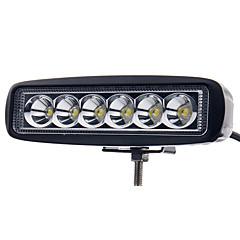 6 tommers 18W ledet arbeidet lys bar lampe for kjøring lastebil trailer motorsykkel suv ATV Offroad bil 12-24V søkelys
