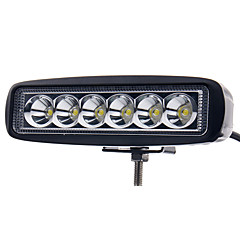 cheap Car Fog Lights-6 inch 18W LED Work Light Bar Lamp for Driving Truck Trailer Motorcycle SUV ATV OffRoad Car 12-24V spotlight