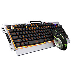 kablet LED-bakgrunnsbelyst opplyst multimedia ergonomisk usb gaming tastatur gamer 3200 dpi 6 knapper optisk gaming mus