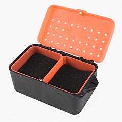 rode worm doos regenworm doos met meerdere - functionele met spons regenworm doos koele vissen levend aas doos