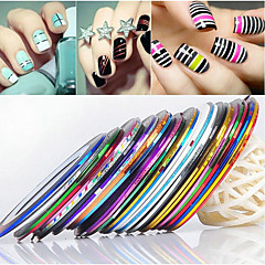 24PCS MiXs Color csíkozás Tape vonal Nail Stripe Tape Nail Art dekoráció matrica