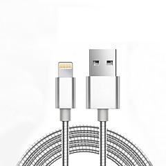 USB 2.0 Împletit Normal Cablu Pentru Apple iPhone iPad 98 cm Metal Aluminiu