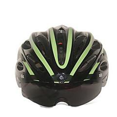 スポーツ 女性用 男性用 男女兼用 バイク ヘルメット 21 通気孔 サイクリング サイクリング マウンテンサイクリング ロードバイク レクリエーションサイクリング ハイキング 登山 PC EPS イエロー レッド ダークグリーン ライトグリーン