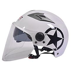 긴 투명 렌즈 55-61cm에 적합한 GXT M11 오토바이 반 헬멧 듀얼 렌즈 할리 선 스크린 헬멧 여름 남여