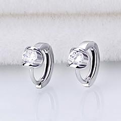 Store Øreringer Kubisk Zirkonium Imitert Perle Sølv Smykker Til Bryllup Fest Daglig Avslappet 1 par