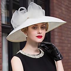 lněná krajka klobouky šátek strana svatební elegantní klasický ženský styl