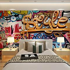 billige Tapet-tapet veggmaleri bakgrunn graffiti farge overdrevet notater ktv bakgrunn veggen 448 × 280cm