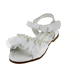 cheap Wedding Shoes-Girl's Flats Summer Flower Girl Shoes Leatherette Wedding Outdoor Office & Career Party & Evening Dress Casual Flat HeelImitation Pearl