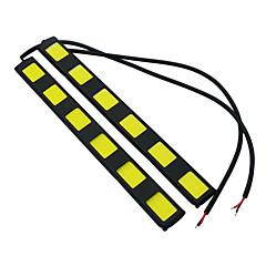 billige Tåkelys til bil-JIAWEN 2pcs Bil Elpærer 7W W COB lm LED utvendig Lights Baklys Dagkjøringslys Tåkelys