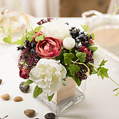 ieftine -1 ramură Bujori Plante Față de masă flori Flori artificiale