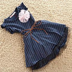 baratos Roupas de Meninas-Bebê / Bébé Para Meninas Pontos Poá Sem Manga Vestido