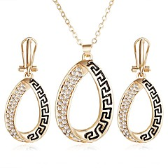 Women's Jewelry Set Rhinestone Unique Design Party Casual Alloy Geometric 1 Necklace 1 Pair of Earrings