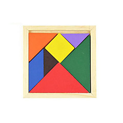 cheap -Tangram Jigsaw Puzzle Wooden Puzzles Educational Toy Square DIY Classic Gift
