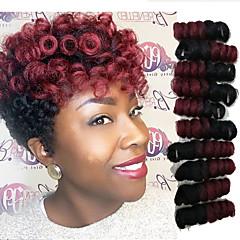baratos Tranças de Cabelo-Cabelo para Trançar Curva Bouncy / Saniya Curl Tranças torção / Cabelo Curlkalon Cabelo Sintético 20 raízes / pacote Tranças de cabelo Âmbar 10-20 polegada