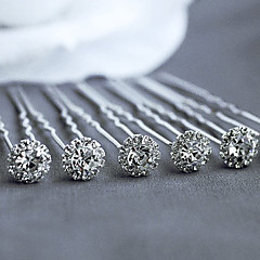 10 Pieces Cubic Zirconia Headpiece-Wedding Special Occasion Casual Office & Career Outdoor Hair Pin Hair Stick Hair Tool