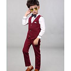 billige Tøjsæt til drenge-Børn Drenge Basale Fest Ensfarvet Langærmet Bomuld Tøjsæt
