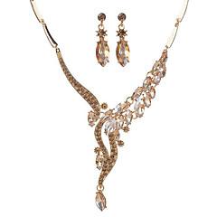 baratos Conjuntos de Bijuteria-Mulheres Sapphire sintético Conjunto de jóias - Original Incluir Sets nupcial Jóias Dourado / Branco Para Festa / Diário / Casual