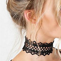 Kadın Gerdanlıklar Mücevher Flower Shape Dantel Kumaş Basic Tasarım Eşsiz Tasarım kostüm takısı Moda Mücevher Uyumluluk Düğün Parti Özel
