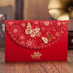 levne Svatební oznámení-Zabalení do kapsy Svatební Pozvánky Ostatní Svatební menu Program Fan Obálka Nálepka Psaníčko Ušetřete datové karty Sady pozvánek