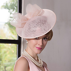 cheap Party Headpieces-Flax Lace Fascinators Hats Headpiece Classical Feminine Style
