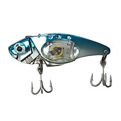 billiga Fiskbeten och flugor-1 pcs Hårt bete / Metallbete / Fiskbete Hårt bete / Metallbete / Trolling Fiskedrag Metall LED Kastfiske / Drag-fiske