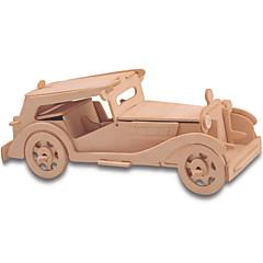 tanie Gry i puzzle-Klocki Zabawki 3D Puzzle Drewniane puzzle Zabawka edukacyjna Samochód DIY 1pcs Dla dzieci Męskie Damskie Dla par Dla dziewczynek Dla