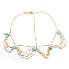 1Pcs Multi Layer Metal Gold Plated Head Chain Hair Jewelry Tassel Pearl  Bindi Hair Accesories Boho Headband