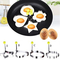 cheap Kitchen Utensils & Gadgets-4Pcs New Design Four Shapes Stainless Steel Fried Egg Shaper Pancake Mould Mold Kitchen Cooking Tools