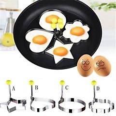 4 Stück DIY Mold For Für Egg Für flüssige Edelstahl umweltfreundlich Gute Qualität Kreative Küche Gadget