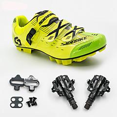 billige Sykkelsko-BOODUN/SIDEBIKE® joggesko Mountain Bike-sko Sykkelsko med pedal og tåjern Unisex Demping Fjellsykkel Sykling