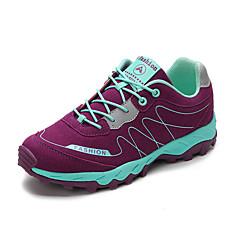 LEIBINDI נעלי ספורט נעלי טיולי הרים נעלי ריצה לנשים נגד החלקה Anti-Shake חסין בפני שחיקה טבע סוליה נמוכה עור נובוק EVA מחוררריצה ספורט