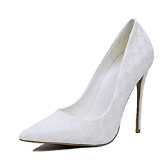 Women's Heels Spring Summer Club Shoes Leatherette Wedding Stiletto Heel Flower