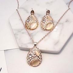 baratos Conjuntos de Bijuteria-Mulheres Conjunto de jóias - Lágrima Fashion, Euramerican Incluir Bege Para Festa / Diário