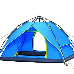 billige Telt og ly-3-4 personer Telt Dobbelt camping Tent Ett Rom Automatisk Telt Vindtett Ultraviolet Motstandsdyktig Regn-sikker til Vandring Camping