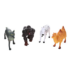 Bildungsspielsachen Spielzeuge Dinosaurier Pferd Zebra Tiere Jungen 4 Stücke