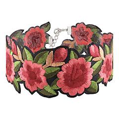 billige Halsbånd-Dame Kort halskæde - Blomst Mode, Euro-Amerikansk Rød Halskæder Smykker 1pc Til Fest