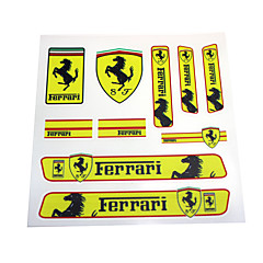 Pvc auto sticker decal emblem badge voor ferrari