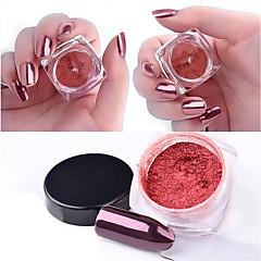 2g / cutie a crescut de aur magic oglindă unghie sclipici praf manichiură unghii art sclipici crom pigment decorare unelte