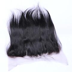 billiga Peruker och hårförlängning-Klassisk Rak 4x13 Stängning Schweizisk spetsperuk Äkta hår Fria delen Mittparti 3 Del Hög kvalitet Dagligen