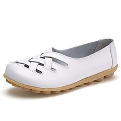 Mulheres Sapatos Courino Verão Outono Sapatos de Berço Solados com Luzes Conforto MaryJane Rasos Caminhada Salto Baixo Ponta Redonda
