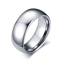 בגדי ריקוד גברים טבעת עיצוב בייסיק אופנתי מותאם אישית Euramerican סגנון מינימליסטי תכשיטים פלדה טונגסטן Circle Shape Round Shape