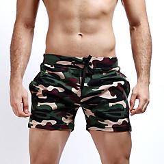 Męskie Wojskowy Prosta Szczupła Krótkie spodnie Spodnie - Klasyczny Dzierganie Sexy, kamuflaż