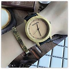 Damen Armbanduhr Einzigartige kreative Uhr Armbanduhren für den Alltag Uhr Holz Chinesisch Quartz / hölzern Leder Band Freizeit Cool