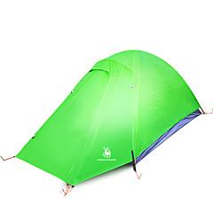 billige Telt og ly-2 personer Telt Dobbelt camping Tent Ett Rom Turtelt Fukt-sikker Vanntett Vindtett Regn-sikker til Vandring Fisking Camping Utendørs Reise