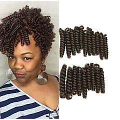 cheap Hair Extensions-Curly Crochet Bouncy Curl 100% kanekalon hair Human Hair Extensions Hair Accessory Afro Kinky Braids Hair Braids Daily