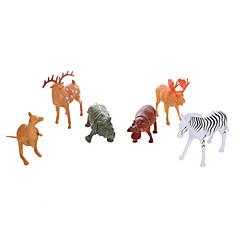 Bildungsspielsachen Spielzeuge Pferd Zebra Elk Nilpferd Tiere Hirsch Jungen 6 Stücke