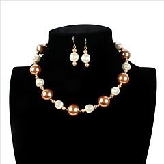 cheap Jewelry Sets-Women's Imitation Pearl Jewelry Set 1 Necklace 1 Pair of Earrings 1 Bracelet - Luxury Love Statement Movie Jewelry Euramerican Adorable