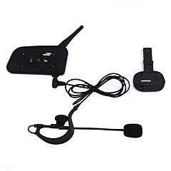 1200m waterdicht motorhelm intercominstallatie full duplex intercom bluetooth headset V6C met armband scheidsrechter intercom comunication